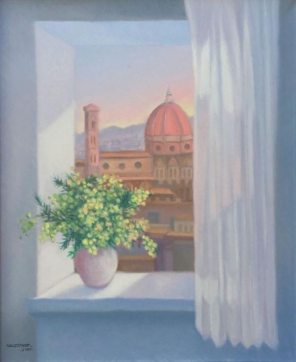 Finestra i mimosa