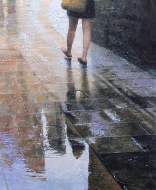 Her footsteps
