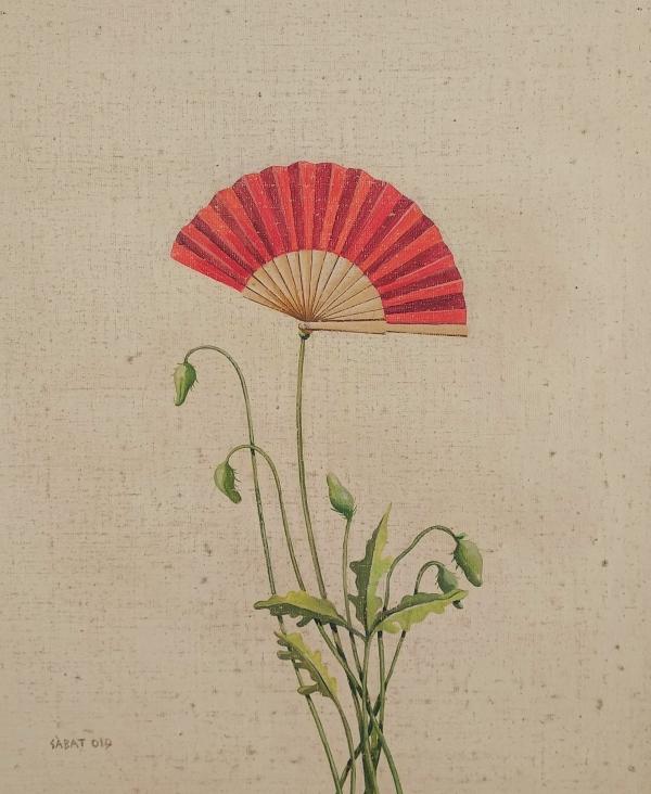 Flor de ventall vermell