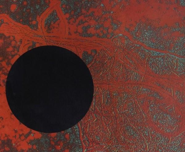 Disc negre damunt roig, 1966