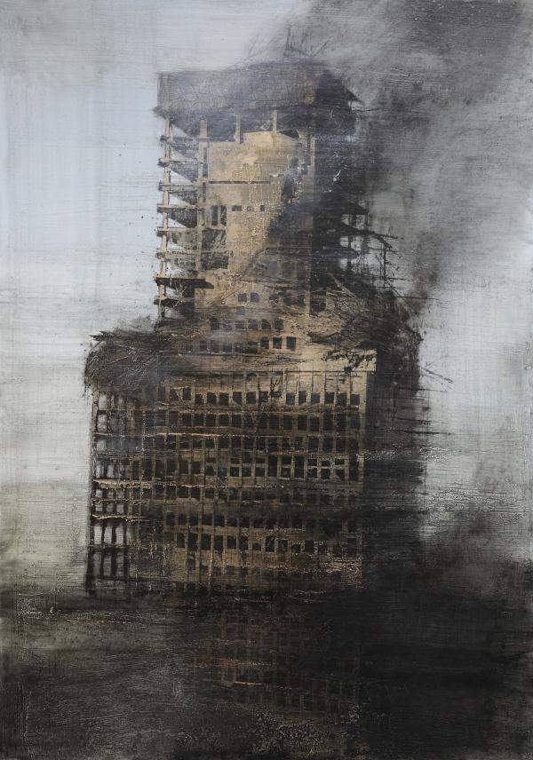 The Windsor building burnt