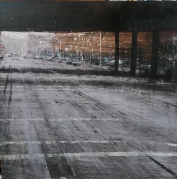 Dos sombras bajo el puente