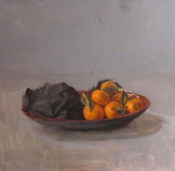 Bodegón con mandarinas y...