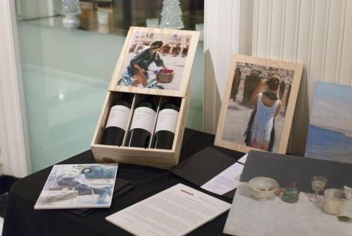 "Cajas de vino pintadas ""Arte, Vino y Territorio"""